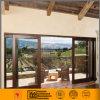 Revestimento de alumínio com acabamento em madeira de isolamento da porta corrediça
