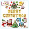 In het groot Diverse Vrolijke Ballons van de Folie van Kerstmis