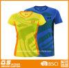 여자의 인쇄된 빠른 건조한 스포츠 t-셔츠