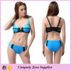 Hotsale 2016 Zip Decor Sexy Mix Color Tankinis Swimsuit mit Double Shoulder Belts
