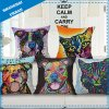 3D Painting Polyester Linen Throw Pillow Cushion