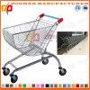 Supermarkt-Lichtbogen-Form-Chrom-Einkaufen-Laufkatze (Zht50)
