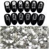 Камни самоцветов диаманта стикеров белого искусствоа ногтя Rhinestone цвета кристаллический акриловые 1440 частей