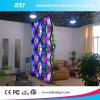 Afficheur LED d'intérieur flexible utilisé pour le modèle incurvé