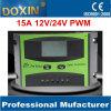 Регулятор 15A регулятора 12V/24V обязанности индикации LCD солнечный поручая