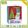 El muñeco de nieve y árboles de Navidad Patten bolsa de papel de regalo