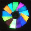 Resplandor multicolor de la pintura de los señuelos de la pesca en el pigmento oscuro