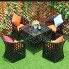 Il rattan di Outoor che pranza il sofà ha impostato con il cuscino