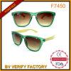 Bras de bambou de forme populaire des lunettes de soleil avec cristal clair le châssis