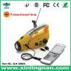 셀룰라 전화 충전기 (XLN-288DS)를 가진 대중적인 태양과 다이너모 라디오 플래쉬 등