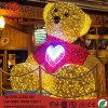 Urso 3D insuflável LED Luz decorativa de Natal