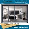 Раздвижная дверь панелей профиля 4 серого цвета алюминиевая