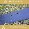 Серая покрашенная шелковая ширма стеклянной с Ral7001 /9016
