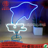 Luz de neón del vector de la muestra de la ballena de la decoración de la Navidad de la iluminación del LED