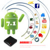 Android facoltativo 7.1 di Quadrato-Memoria A53 della casella Android IPTV Zx918 Rk3328 della TV
