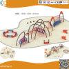 Structure en acier de plein air de l'escalade avec toboggan pour les enfants HX1503V