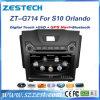 Estéreo de rádio do carro do sistema do Wince de A8 Nav para Chevrolet S10 Orlando