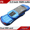 F8 Slide Phone Dual SIM Card Chating de QQ, MP3 Mini Phone