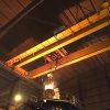 Uso da fresa de aço que molda o guindaste aéreo da viga dobro com grua elétrica