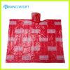 Firmenzeichen gedruckter Wegwerf-PET Poncho für Förderung