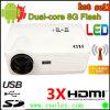 3000 поддержка репроектора Android 4.0 HD СИД люменов, репроектор широкого экрана 16:9 WiFi 3D
