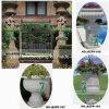 手で石造りの庭Flowerpot Granite Marble Vase Carved (YKFP-29)