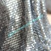Silbernes Color 4mm Square Sequin Metal Sequin Cloth