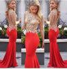 Сексуальные отвесные открытые назад платья вечера Appliqued длинняя мантия вечера платья знаменитости красного ковра Mermaid втулки