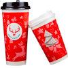 tazas de papel revestidas impresas rojas del PE disponible 7oz