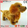 Realistischer Plüsch-tierischer weicher langhaariger Dachshund angefüllter Spielzeug-Hund