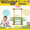 Il gioco del bambino dello sbarco di Thinkertoy ostruisce la mosca astuta del giocattolo di serie educativa dell'aeroplano