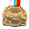 Médaille de vieil or faite sur commande bon marché pour le jeu de levage de poids