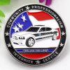 Promoción barata nuevo modelo de marcas de servicio de metal esmalte negro Coin