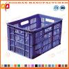 Panier en plastique de rotation de transport de fruit de caisse de mémoire de maille pliable (Zhtb17)