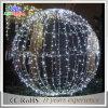 Van LEIDENE van de vakantie het Hangen het Witte Kerstmis van de Bal Lichte Licht van het Motief van de Bal