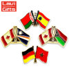 卸し売りカスタム金属のオーストラリアのカナダの各国用の国旗の折りえりPin
