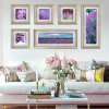 6PCS Group Decorative Purple Flowers Wall Painting (YS-014)