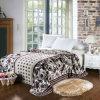 100% poliéster Super Luxo flores suaves flanela impresso cobertores