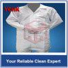 Combinaison antipoussière de DÉCHARGE ÉLECTROSTATIQUE de vêtements de Cleanroom fendu de la classe 100 en vrac