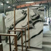 Mármore de madeira preta, Pedra Natural Panda Lajes de mármore branco, Pedra de mármore
