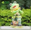 Transportar uma carga de resina Garden Frog decoração (NF14127-4)