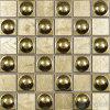 48X48mm ligeiramente acastanhada mosaico de vidro metálica de Ouro