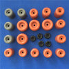 Taquet en caoutchouc coloré de porte moulé par pare-chocs rond de porte de silicones