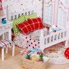 2017 romántico juguete de madera casa de muñecas