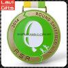 Медали бегунка эмали верхнего производителя изготовленный на заказ зеленые мягкие