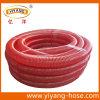 Шланг всасывания PVC рифленой поверхности красный, изготовление
