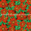 Golden reattivo Printed 100%Cotton Fabric per Christmas