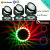 Cabeças moventes do diodo emissor de luz da iluminação RGBW do efeito do disco de DMX Contro