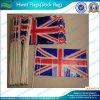 PVC Hand Waving Drapeau national britannique avec des poteaux en bois (M-NF01P02014)