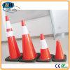 Coni fluorescenti di traffico stradale del PVC dell'arancio
